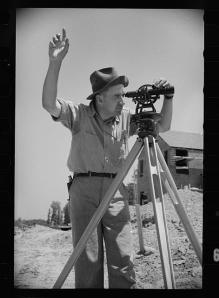 Surveyor at Greenbelt, Maryland. Carl Mydans, Library of Congress