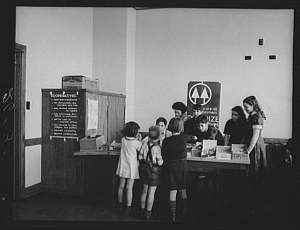 Learn about the Gum Drop Co-op, a student run co-operative mini store at Greenbelt's elementary school. Rothstein, 1938, Library of Congress