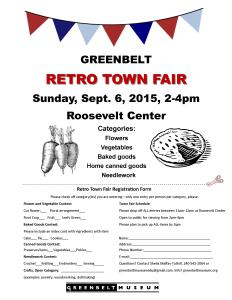 2015 Greenbelt Museum Retro Town Fair form